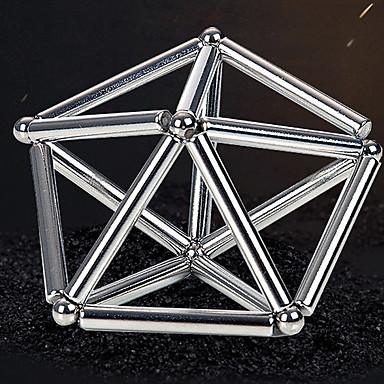 63 pcs 8mm Brinquedos Magnéticos Bolas Magnéticas / Palitos Magnéticos / Blocos de Construir Adulto Dom