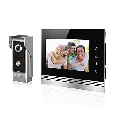 7 hüvelykes LCD-képernyő videó csengő video ajtó telefon intercome kaputelefon rendszer