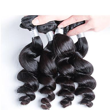 4 개 / 많은 최고 품질의 페루 인간의 머리카락 무료 배송, 최고 등급 처녀 페루 느슨한 웨이브 머리
