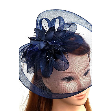 Tulle   Feather   Net Fascinators   Hats   Headwear with Floral 1pc Wedding    Special Occasion Headpiece 3790ecec5ed