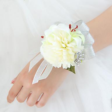 زهور الزفاف باقات باقة ورد في رسغ أخرى أزهار اصطناعية زفاف حفل / مساء مادة دانتيل ستان 0-20cm