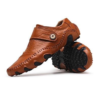 abordables Meilleures Ventes-Homme Chaussures de conduite Cuir Automne / Hiver Mocassins et Chaussons+D6148 Noir / Marron / Boucle / EU40