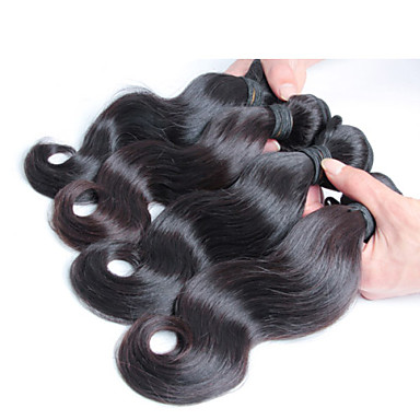 4 szt / lot 100% malezyjski dziewiczy włosy, bezpłatna wysyłka nowych przyjazdowych malezyjski ciało fala włosów