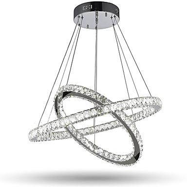 Sirkelformet Anheng Lys Omgivelseslys - Krystall, LED, 110-120V / 220-240V, Varm Hvit / Kald Hvit, LED lyskilde inkludert / 15-20㎡