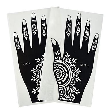 패턴 / 문신 스티커 임시 문신 Totem Series / 꽃 시리즈 / 로맨틱 시리즈 손 1 pcs