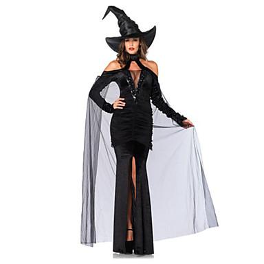 Cosplay Kostüme Zauberer/Hexe Fest/Feiertage Halloween Kostüme Andere Kleid Mützen Halloween Frau Elasthan Terylen
