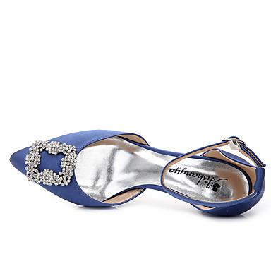 pointu Paillette Automne Sandales Talon Cristal Strass 05784816 Deux D'Orsay Chaussures Brillante Femme Blanc dragée Aiguille Bout Eté royal Mariage Pièces clair amp; Rose Soie Bleu wf78Zqp