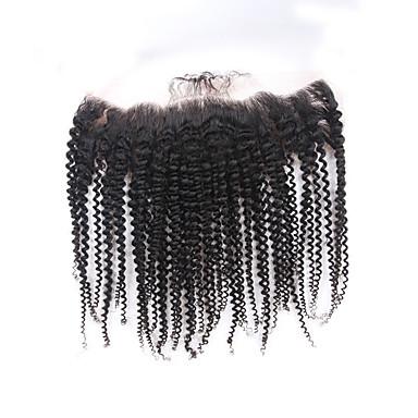 povoljno Perike i ekstenzije-ELVA HAIR Brazilska kosa 4x13 Zatvaranje Kovrčav / Klasika / Kinky Curly Besplatno dio / Središnji dio / 3. dio Švicarska čipka Ljudska kosa Dnevno