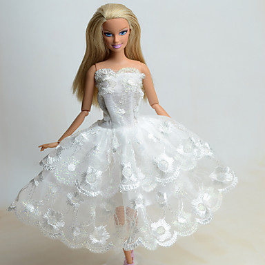 Hercegnő Ruhák mert Barbie baba Csipke Organza Ruha mert Lány Doll ... 7ad3fd2d47