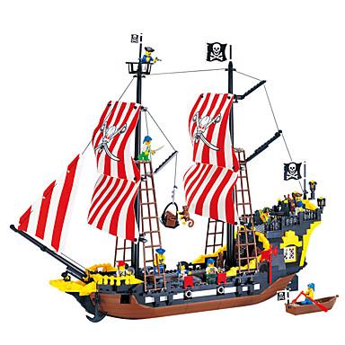 ENLIGHTEN Blocos de Construir / Brinquedos de Montar Pirata Navio / Pérola Negra / Piratas Dom