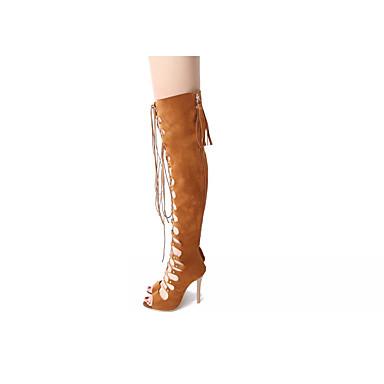 05814597 Similicuir amp; Soirée Bout Femme Noir Aiguille amp; Evénement Lacet Chaussures ouvert Sandales Eté Confort Talon Jaune Evénement Soirée Upww5Hqagx