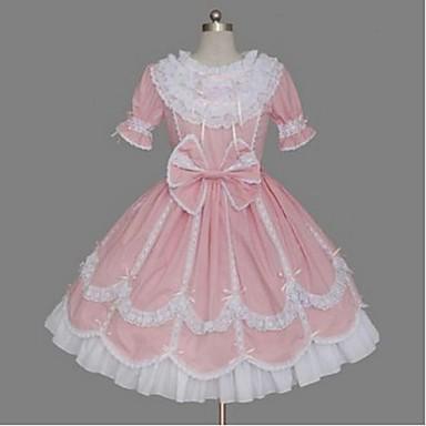 Prinzessin Sweet Lolita Kleid Damen Mädchen Baumwolle ...
