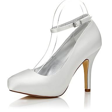 Mulheres Sapatos Seda Outono / Inverno Conforto / Sapatos clube / Sapatos Dyeable Saltos Salto Agulha Ponta Redonda / Dedo Fechado
