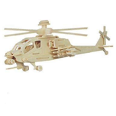 voordelige 3D-puzzels-3D-puzzels Helikopter Plezier Hout Klassiek Kinderen Unisex Speeltjes Geschenk