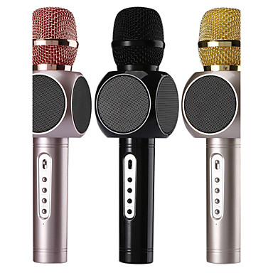 billige Mikrofoner-no Trådløs Karaoke Mikrofon Usb Svart Rosa Gull