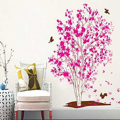 보태니컬 벽 스티커 플레인 월스티커 데코레이티브 월 스티커,비닐 홈 장식 벽 데칼 벽