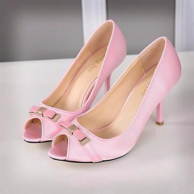 여성 샌들 컴포트 봄 PU 캐쥬얼 화이트 블랙 핑크 5cm- 7cm