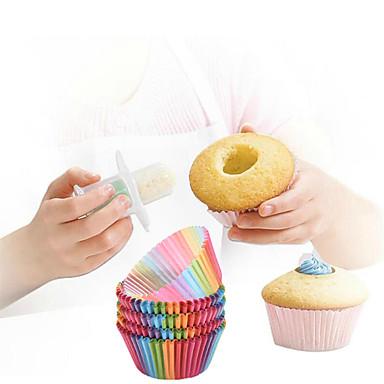 أدوات خبز بلاستيك / ورقة صديقة للبيئة / غير لاصقة / اصنع بنفسك خبز / كعكة / Cupcake خبز مجموعات