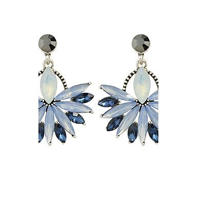 للمرأة أقراط قطرة - وردة تصميم فريد أزرق من أجل فضفاض