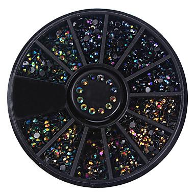 1 pcs Strass arte de unha Manicure e pedicure Diário Glitters / Neon & Bright / Fashion / Acrílico / Metal