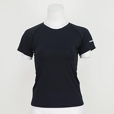 Mulheres Camiseta de Corrida Manga Curta Secagem Rápida Respirável Camiseta Blusas para Ioga Exercício e Atividade Física Corrida