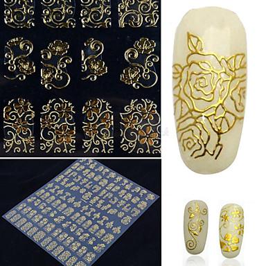 1 pcs Autocolantes de Unhas 3D arte de unha Manicure e pedicure Fashion Diário / Etiquetas de unhas 3D