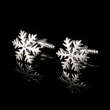 Di Forma Geometrica Argento Gemelli Rame Fiore Decorativo Confezioni Regalo & Borse - Di Tendenza Per Uomo - Unisex Bigiotteria Per #05833421