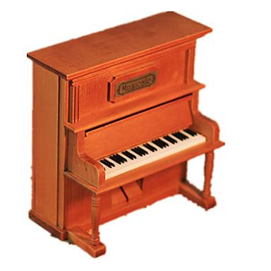 Caixa de música Modelos de madeira Brinquedos de Montar Piano Vintage Retro Crianças Adulto Infantil Dom Unisexo