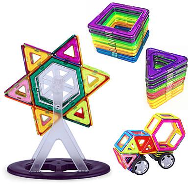 בלוק מגנטי אריחים מגנטיים אבני בניין 93 pcs מגנטי חמוד מודרני, חדשני קלסי ונצחי בנים בנות צעצועים מתנות / עשה זאת בעצמך