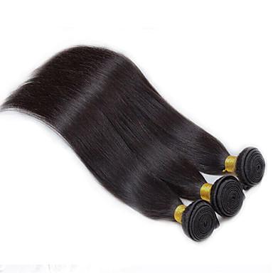 Cabelo Peruviano Liso Tramas de cabelo humano 3 Peças Cabelo Humano Ondulado