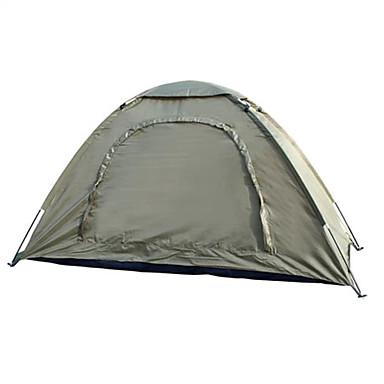 1 Pessoa Tenda Único Barraca de acampamento Ao ar livre Tenda Dobrada Prova-de-Água Portátil para Equitação Campismo 2000-3000 mm Fibra