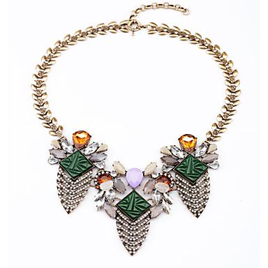 Mulheres Geométrico Strands Necklace - senhoras, Original Verde Escuro Colar Jóias Para Presente, Diário