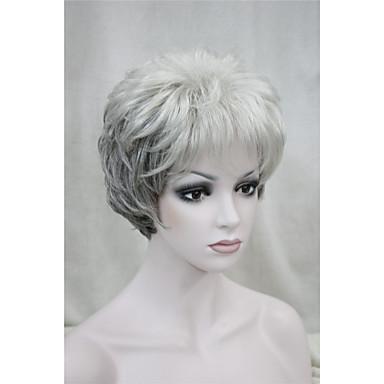 Synthetische Perücken Locken Synthetische Haare Perücke Damen Kurz Kappenlos