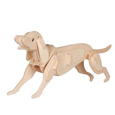 voordelige 3D-puzzels-3D-puzzels Honden Plezier Hout Klassiek Kinderen Unisex Speeltjes Geschenk