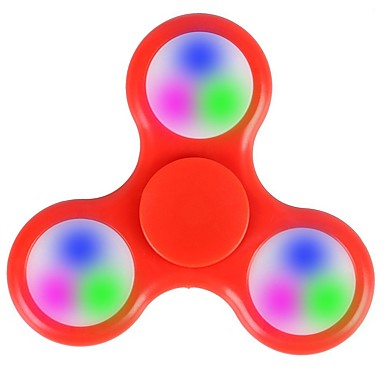 Spinners de mão Mão Spinner Iluminação Por matar o tempo O stress e ansiedade alívio LED Spinner Plástico Clássico Peças Crianças Adulto Para Meninas Brinquedos Dom / Luz LED