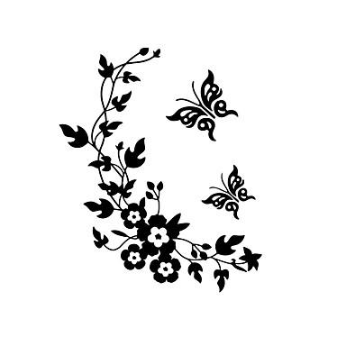 Moda Floral Adesivos de Parede Autocolantes de Aviões para Parede Autocolantes de Parede Decorativos Autocolantes de Banheiro, Vinil