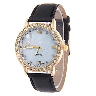 baratos Relógios Homem-Mulheres Relógio de Moda Quartzo Couro Banda Casual Preta Azul Rose