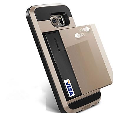 Capinha Para Samsung Galaxy S8 Plus S8 Porta-Cartão Capa traseira Côr Sólida Rígida PC para S8 Plus S8 S7 edge S7 S6 edge plus S6 edge S6