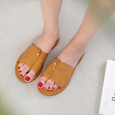 Dámské Sandály S páskem Léto PU Ležérní Žlutá Khaki 2.5 - 4.5 cm