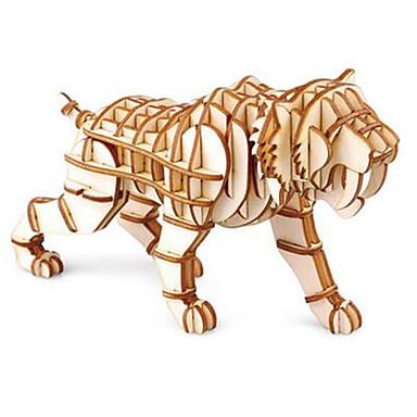 voordelige 3D-puzzels-3D-puzzels Tiger Plezier Hout Klassiek Kinderen Unisex Speeltjes Geschenk
