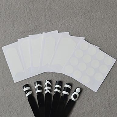 6pcs Stanze Maniküre Schablone / 3D Nagel Sticker Nagel Stamping Vorlage Alltag Modisch