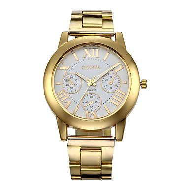 Kadın's Bilek Saati Kronograf Paslanmaz Çelik Bant İhtişam / Moda Altın Rengi