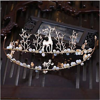 Imitação de Pérola Strass Liga Tiaras Headbands 1 Casamento Ocasião Especial Capacete
