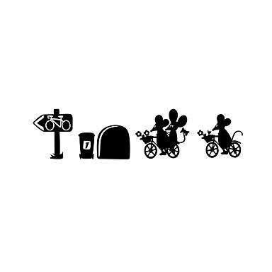 Životinje Sportske Crtani film Zid Naljepnice Zidne naljepnice Dekorativne zidne naljepnice, Vinil Početna Dekoracija Zid preslikača Zid