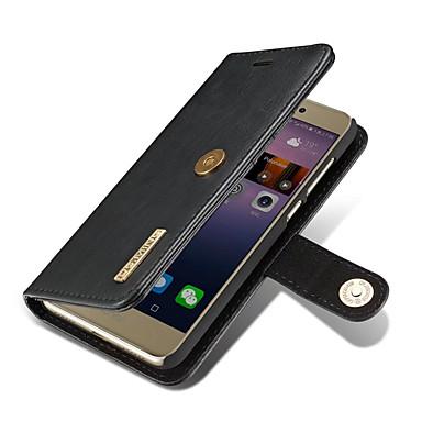 Capinha Para Huawei Porta-Cartão Carteira Com Suporte Flip Magnética Capa Proteção Completa Côr Sólida Rígida couro legítimo para P8 Lite