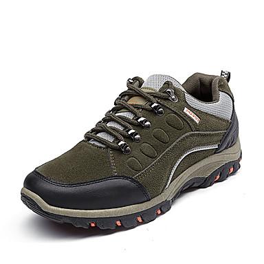 Hombre Zapatos PU Primavera / Otoño Confort Zapatillas de Atletismo Senderismo Negro / Gris / Verde Ejército LG7jaaZM