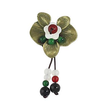 Mulheres Broches - Flor Básico Broche Vermelho Para Casual