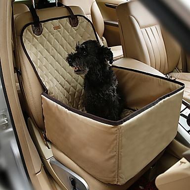 Gato Cachorro Cobertura de Cadeira Automotiva Animais de Estimação Capachos e Alcochoadas Sólido Portátil Dobrável Respirável Dupla Face