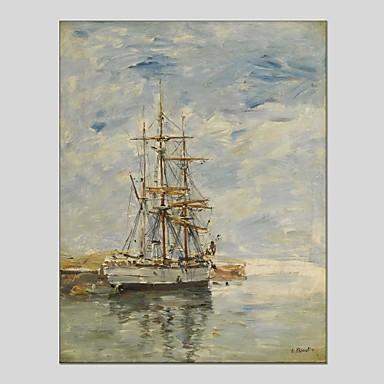 Pintados à mão Abstrato Panorâmico vertical, Clássico Modern Tela de pintura Pintura a Óleo Decoração para casa 1 Painel