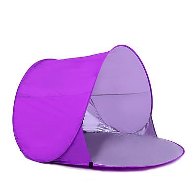 COME 2 사람 텐트 비치 텐트 싱글 캠핑 텐트 투 룸 비치 텐트 방수 휴대용 자외선 방지 용 하이킹 캠핑 2000-3000 mm 유리섬유 CM